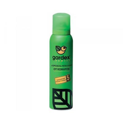 GARDEX Family Аэрозоль-репеллент от комаров с алое вера 150мл москитол универсальная защита от комаров аэрозоль 150мл