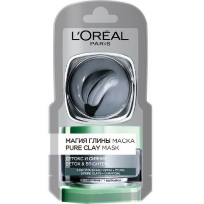 LOREAL DERMO-EXPERTISE Магия глины Детокс и Сияние маска монодоза 6мл