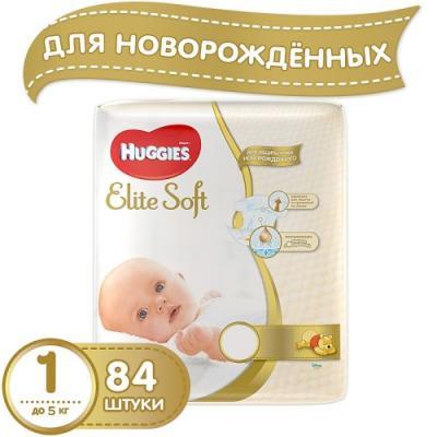 HUGGIES Подгузники Элит Софт размер 1 до 5 кг 84шт