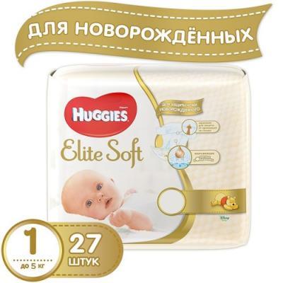 Купить HUGGIES Подгузники Элит Софт 1 до 5кг 27шт, Подгузники и трусики подгузники