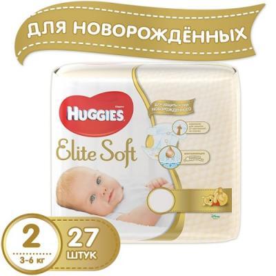 HUGGIES Подгузники Элит Софт 2 3-6кг 27шт ловулар подгузники s 3 6кг 28шт