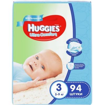 HUGGIES Подгузники Ultra Comfort Размер 3 5-9кг 94шт для мальчиков huggies подгузники huggies ultra comfort для мальчиков giga pack 3 5 9 кг 94 шт