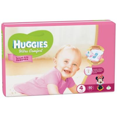 HUGGIES Подгузники Ultra Comfort Размер 4 8-14кг 80шт для девочек huggies подгузники huggies ultra comfort для девочек giga pack 4 8 14 кг 80 шт