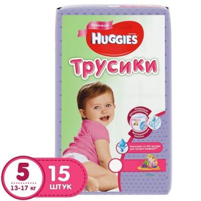 Купить HUGGIES Подгузники-трусики Annapurna Размер 5 13-17кг 15шт для девочек, дышащие, Подгузники и трусики подгузники