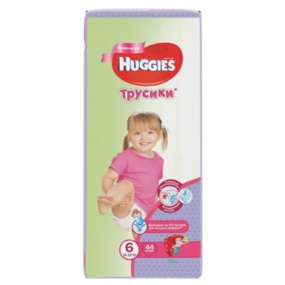 HUGGIES Подгузники-трусики Annapurna Размер 6 16-22кг 44шт для девочек хаггис трусики для мальчиков 6 16 22кг 30шт