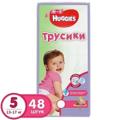 Купить HUGGIES Подгузники-трусики Литтл Волкерс Размер 5 13-17кг 48шт для девочек, дышащие, Подгузники и трусики подгузники