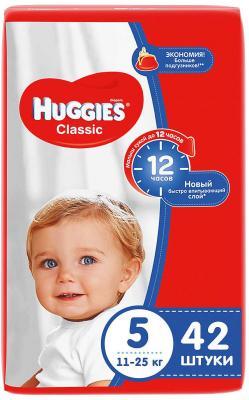 HUGGIES Подгузники CLASSIC Размер 5 11-25кг 42шт