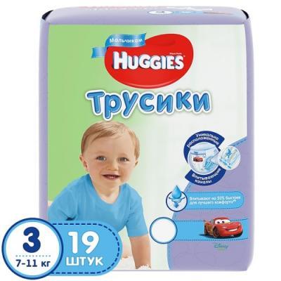 Купить HUGGIES Подгузники-трусики PANTS Annapurna размер 3 7-11кг 19шт для мальчиков, Подгузники и трусики подгузники