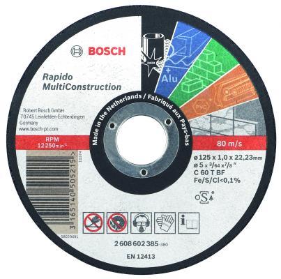 Отрезной круг Bosch 125х1мм 2608602385