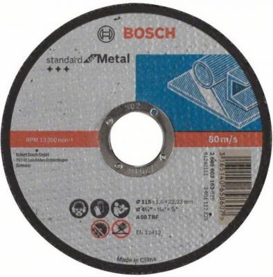 Отрезной круг Bosch Standard 115х1.6мм SfM 2608603163 круг отрезной bosch по камню 125x22x2 5