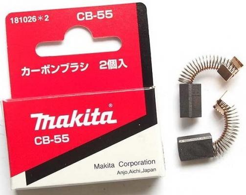 Щетка графитовая Makita CB-55 запасная часть щетка графитовая makita cb 132 191972 1
