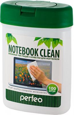 Чистящие салфетки Perfeo Notebook Clean 100 шт PF-T/NBmini-100