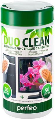 Чистящие салфетки Perfeo Duo Clean 100 шт PF-T/SCPC-50/50
