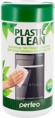 Чистящие салфетки Perfeo Plastic Clean 100 шт PF-T/PC-100