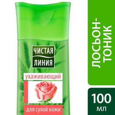Лосьон-тоник для лица Чистая Линия Лепестки Роз 100 мл 24 часа