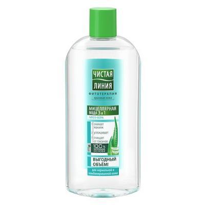 ЧИСТАЯ ЛИНИЯ Мицеллярная вода 3в1 для нормальной и комбинированной кожи 400мл испания линия маннергейма