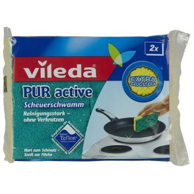 ВИЛЕДА Губка для плит Пур-Актив 2 шт виледа губка для посуды пур актив 2 шт