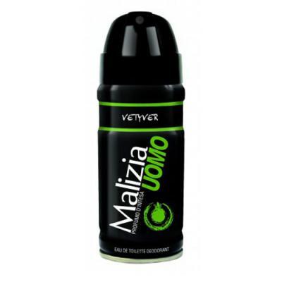Дезодорант Malizia Uomo Vetyver 150 мл malizia дезодорант роликовый musk uomo malizia 50 мл