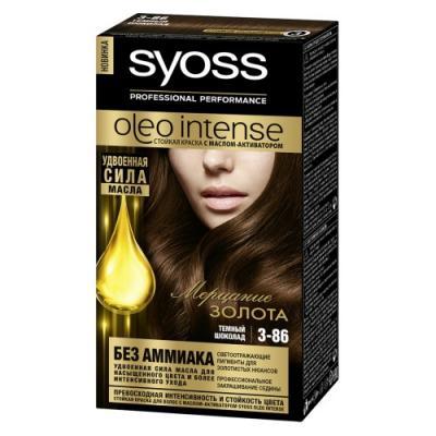 SYOSS Oleo Intense Краска для волос 3-86 Темный Шоколад 115 мл краска mastergood эластичная резиновая темный шоколад 2 4кг