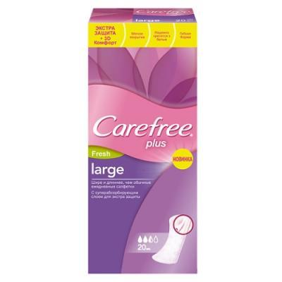 Carefree Салфетки plus Large Fresh ароматизированные 20шт НДС18%
