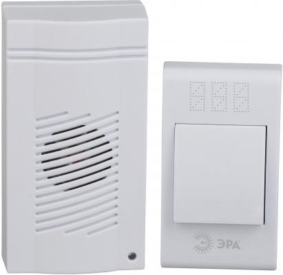 Звонок дверной беспроводной Эра C51 белый светодиодный беспроводной перезвон дверной звонок дверной звонок