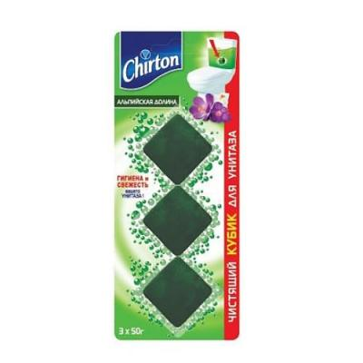 CHIRTON Чистящий кубик для унитаза Альпийская долина 3*50г chirton чистящие таблетки для унитаза морской бриз 50г 3
