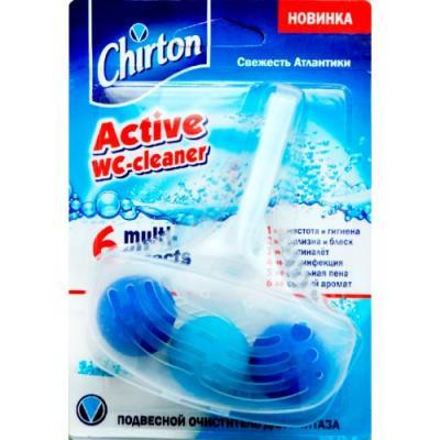 CHIRTON Подвесной очиститель для унитаза Свежесть Атлантики шарики 45 г бытовая химия chirton чистящая таблетка для унитаза liaara лесная свежесть