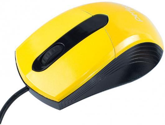 Мышь проводная Perfeo Color жёлтый USB PF-203-OP-Y