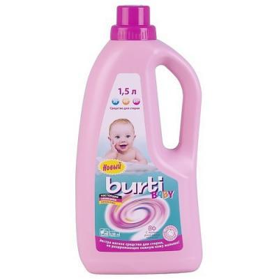 BURTI Универсальное жидкое средство для стирки детского белья Burti liquid Baby 1.5л жидкое средство для стирки детского белья burti baby 1 5 л