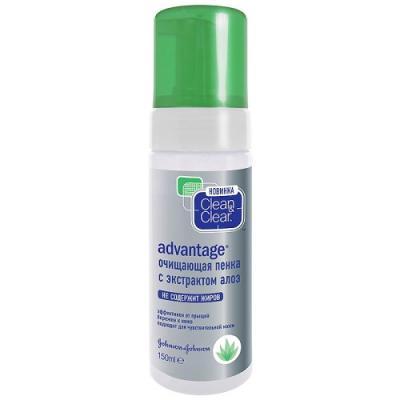 Clean&Clear Advantage Очищающая пенка с экстрактом алоэ 150мл phytomer пенка очищающая кислородная 150мл