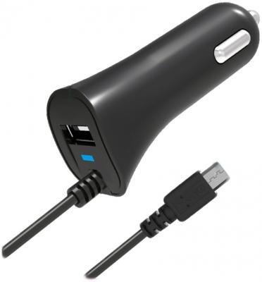 Автомобильное зарядное устройство Partner microUSB USB 2.1A черный ПР033116 беспроводное зарядное устройство partner olmio quick charge 10w microusb черный пр038528
