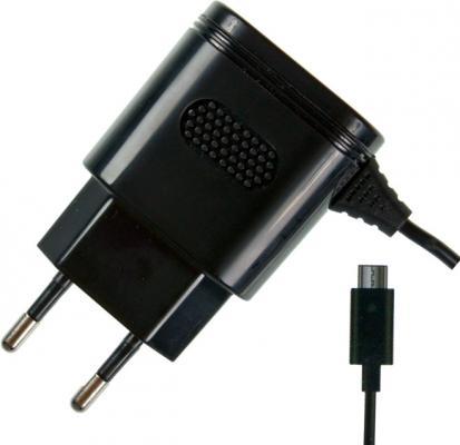 Сетевое зарядное устройство Partner microUSB 2.1A черный ПР032046 беспроводное зарядное устройство partner olmio quick charge 10w microusb черный пр038528