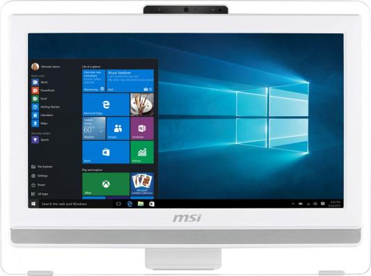 Моноблок 19.5 MSI Pro 20ET 4BW-053RU 1600 x 900 Touch screen Intel Pentium-N3710 4Gb 1Tb Intel HD Graphics 405 DOS белый 9S6-AA8B12-053 моноблок 21 5 msi pro 22et 4bw 034ru 1920 x 1080 multi touch intel pentium n3700 4gb 1tb intel hd graphics dos белый 9s6 ac1612 037