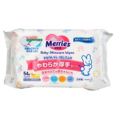 MERRIES Детские влажные салфетки Запасной блок 54шт merries влажные салфетки для новорождённых 54 шт