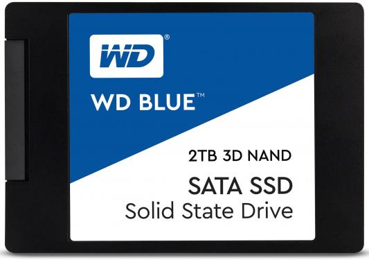 Твердотельный накопитель SSD 2.5 2 Tb Western Digital Blue Read 560Mb/s Write 530Mb/s 3D NAND TLC WDS200T2B0A