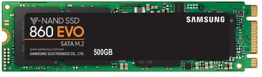 Твердотельный накопитель SSD M.2 500Gb Samsung 860 EVO Read 550Mb/s Write 520Mb/s SATAIII MZ-N6E500BW samsung 860 evo 860evo 250gb 250g 2 5 sata3 ssd pc desktop laptop server 2 5 internal solid state dribe ssd