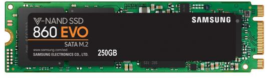 Твердотельный накопитель SSD M.2 250Gb Samsung 860 EVO Read 550Mb/s Write 520Mb/s SATAIII MZ-N6E250BW kingfast ssd 128gb sata iii 6gb s 2 5 inch solid state drive 7mm internal ssd 128 cache hard disk for laptop disktop