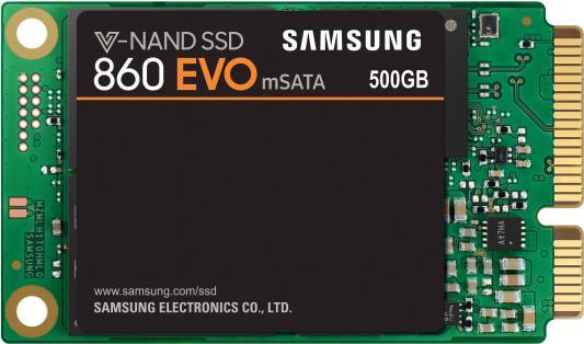Твердотельный накопитель SSD mSATA 500Gb Samsung 860 EVO Read 550Mb/s Write 520Mb/s SATA III MZ-M6E500BW твердотельный накопитель ssd msata 500gb samsung 850 evo read 540mb s write 520mb s sata iii mz m5e500bw