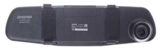 Видеорегистратор Digma FreeDrive 303 MIRROR DUAL 4.3 1920x1080 120° microSD microSDHC датчик движения USB черный