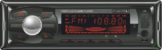 Автомагнитола Phantom DV-7024 USB MP3 FM 1xDin 4x55Вт черный