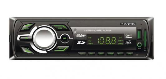 Автомагнитола Phantom BW5FG4 USB MP3 FM 1xDin 4x45Вт черный автомагнитола 12 24 bluetooth mp3 fm usb