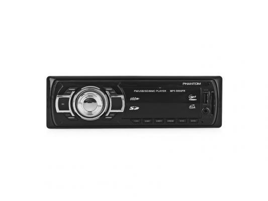 Автомагнитола Phantom BW4FR USB MP3 FM 1xDin 4x45Вт черный автомагнитола 12 24 bluetooth mp3 fm usb
