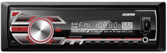 Автомагнитола Digma DCR-420R USB MP3 FM 1DIN 4x45Вт черный автомагнитола digma dcr 420r usb mp3 fm 1din 4x45вт черный