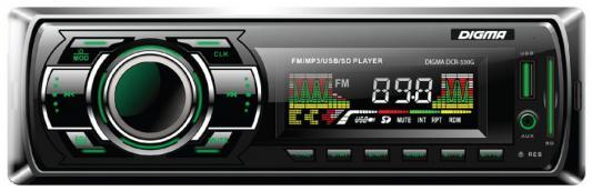 Автомагнитола Digma DCR-330G USB MP3 FM 1DIN 4x45Вт черный автомагнитола digma dcr 300g usb mp3 fm 1din 4x45вт черный