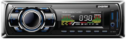 Автомагнитола Digma DCR-330B USB MP3 FM 1DIN 4x45Вт черный автомагнитола digma dcr 100b24