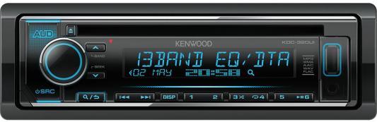 Автомагнитола Kenwood KDC-320UI USB MP3 CD FM RDS 1DIN 4х50Вт черный автомагнитола kenwood kmm 103gy usb mp3 fm 1din 4х50вт черный
