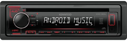 Автомагнитола Kenwood KDC-120UR USB MP3 CD FM RDS 1DIN 4х50Вт черный dark grey slit side wide v neck long sleeves knitted top
