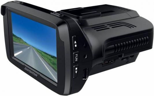 Видеорегистратор Digma DCD-300 Combo 2.7 320x240 170° microSD microSDHC датчик движения с радар-детектором черный