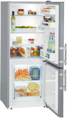 Холодильник Liebherr CUSL 2311 серебристый двухкамерный холодильник liebherr cuwb 3311