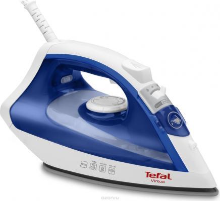 Утюг Tefal FV4950E0 2500Вт белый синий отпариватель tefal is3365e1 синий белый [1830005528]